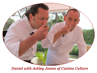 Tango's owner, Chef Daniel Sak, with Ashley James of Cuisine Culture